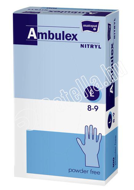 GUMIKESZTYÜ AMBULEX NITRIL PUD.M.LILA L