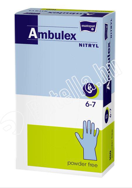 GUMIKESZTYÜ AMBULEX NITRIL PUD.M.LILA S