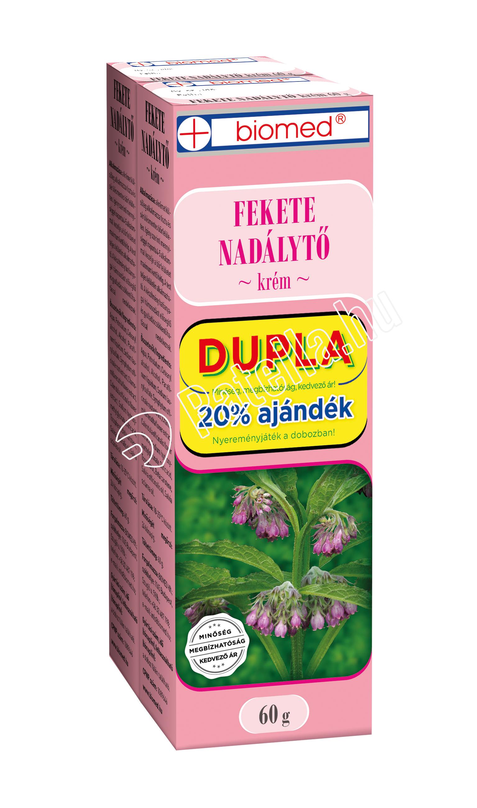 BIOMED FEKETE NADALYTO KREM DUPLA 2X60G